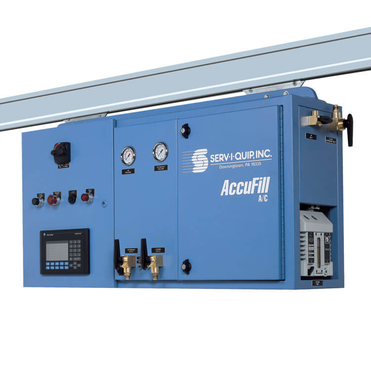 AccuFill Track mounted, vehicle towed, A/C Fill System